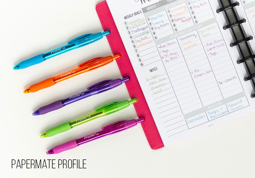 Planner girls love writing with the best pens. We've done a round up of dozens of pens and written with them all so we can tell which pens are best for writing in your planner