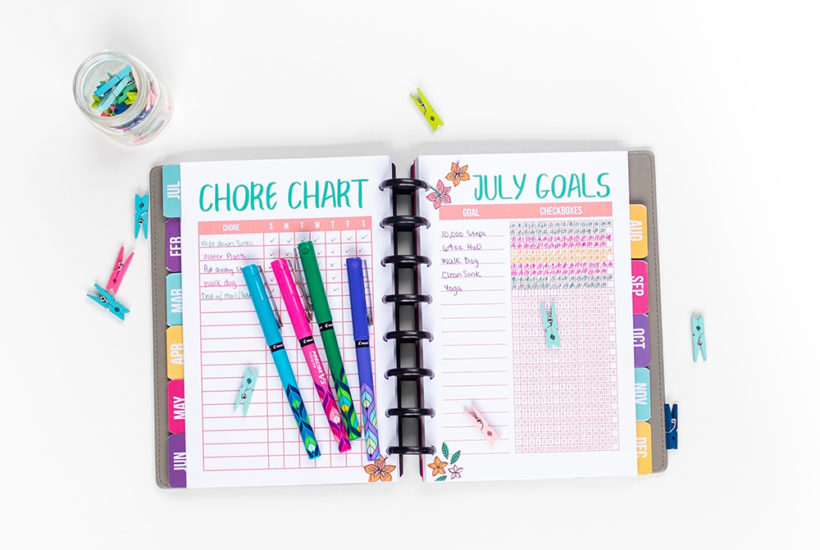 Download a FREE printable chore chart, plus tips on how to put it to use!