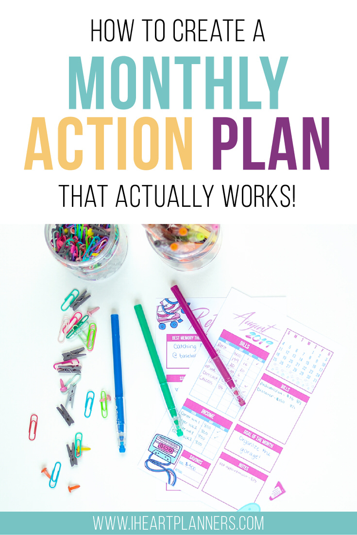 Prepping a new monthly budget, sorting out your schedule, and creating an action plan can seem daunting, but it doesn't have to be! Taking just a few minutes to make an action plan for your month will set you up for success!