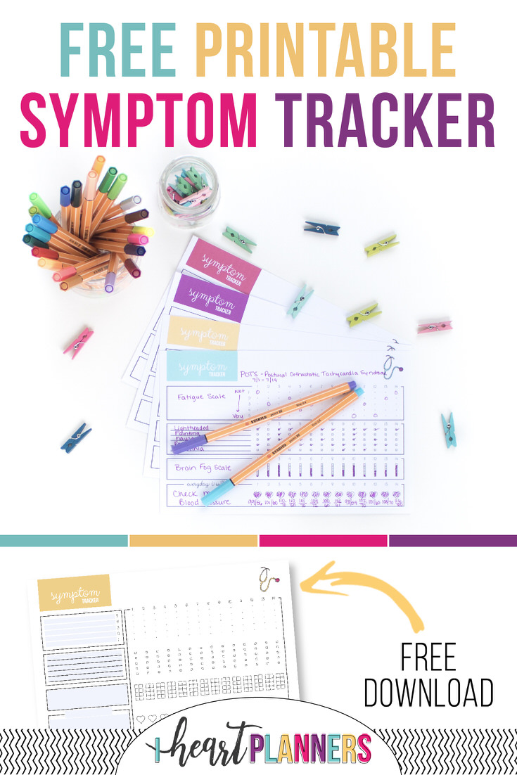 Tracking your symptoms can give you a birds eye view of how your health fluctuates and what affects your mood and overall well being. You can start today with this free printable symptom tracker!