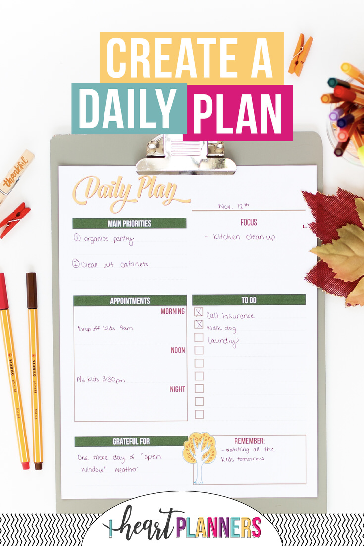 Planning each day can have a huge impact on your life overall. Here's why and a free printable to get you started.