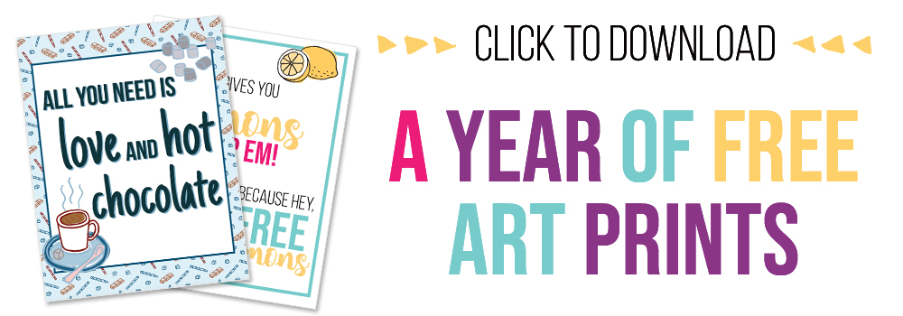 Print out a set of 12 lovely art prints for free, and gift them or keep them for yourself!