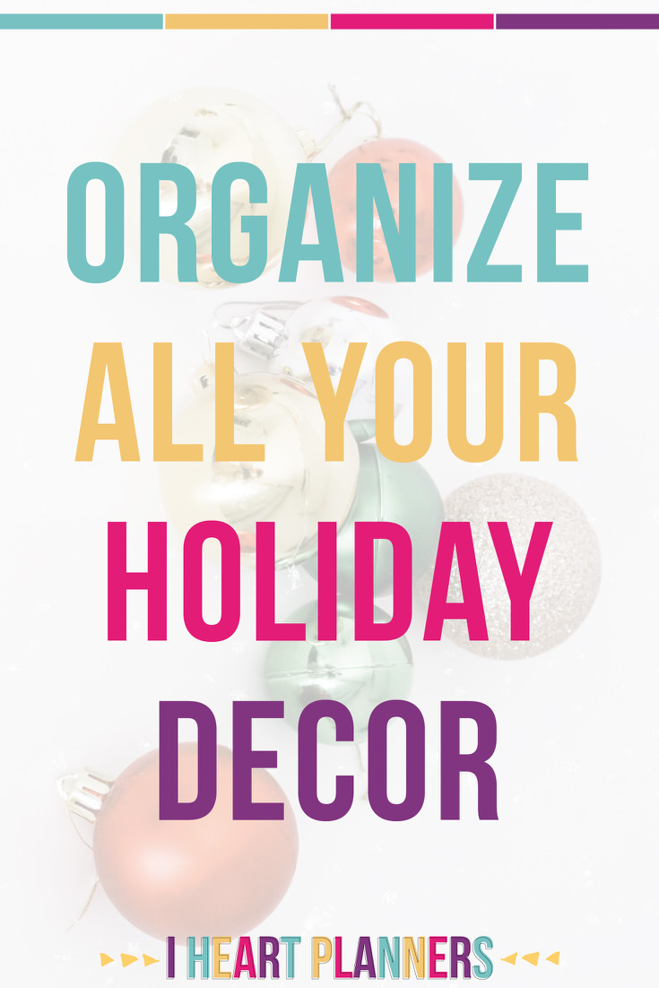 If you have a love hate relationship with your holiday decor - you love to see it and hate to organize it - these tips and tricks are just for you!