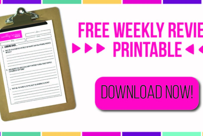 7 Days of Free Printables – Weekly Review Printable