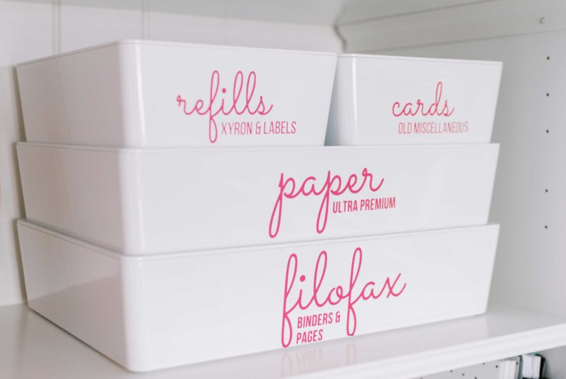 Learn How to Make the Pink Labels on my Office Bins
