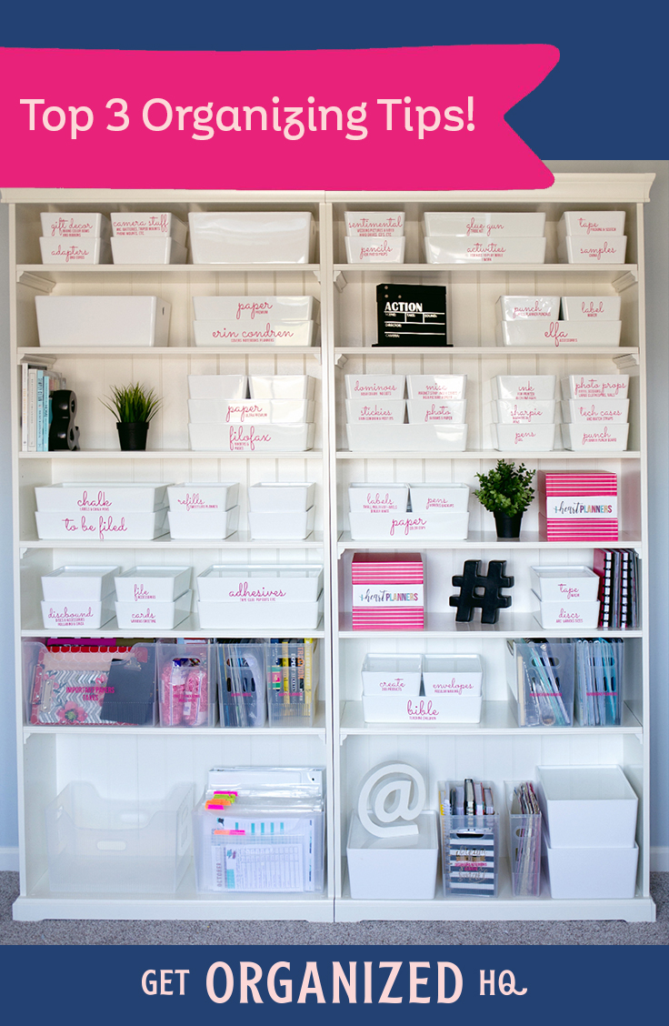 Laura's Top 3 Organizing Tips