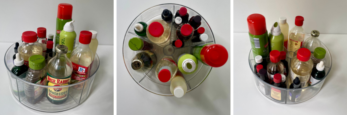 Kitchen Oils and Flavorings Lazy Susan Organizer