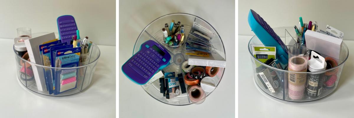 Office Essentials Lazy Susan Organizer